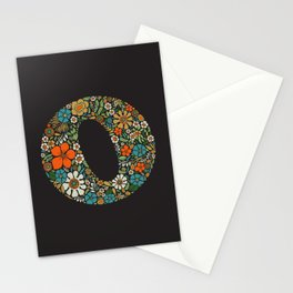 Hippie Floral Letter O Stationery Cards
