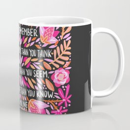 Always Remember – Pink & Charcoal Palette Coffee Mug