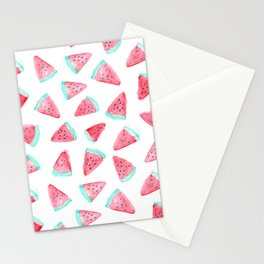Watermelon watercolor pattern Stationery Cards