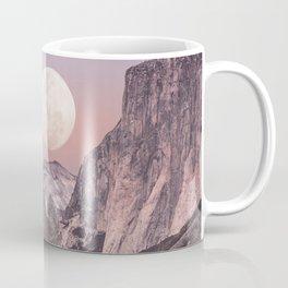 Pastel Full Moon Over Yosemite Park Coffee Mug