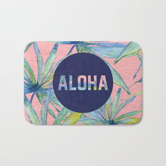 Aloha - pink version Bath Mat