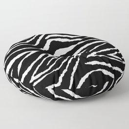 Animal Print Zebra Black and White Floor Pillow