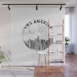 Los Angeles city in a glass ball 2  Home Decor Graphicdesign Wall Mural