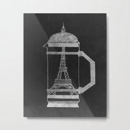French Press... (Black & White) Metal Print