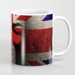 Guy Fawkes Day Union Jack Distressed Flag and Mask Coffee Mug