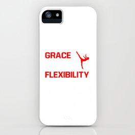 Strength Grace Balance Flexibility Gymnastics T-Shirt iPhone Case