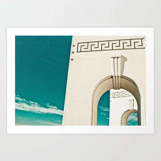 Los Angeles - Griffith Park Observatory Art Print