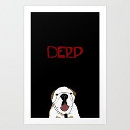 Derp Case Art Print
