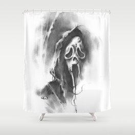 The Ghostface Shower Curtain