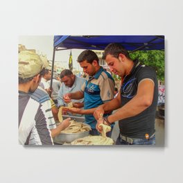 iraqi People offering free food Metal Print