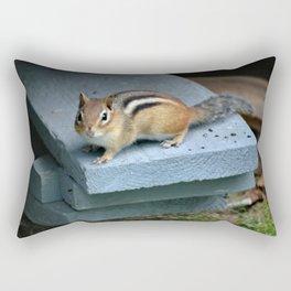 Chip on the Block: Adirondack Chipmunk Rectangular Pillow