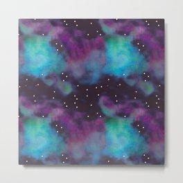 pixel galaxy pattern Metal Print