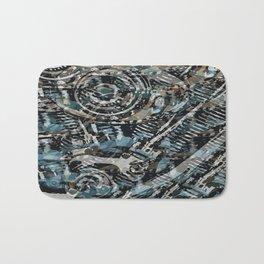 Abstract V-Twin Bath Mat