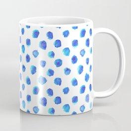Watercolor Tie Dye Dots in Indigo Blue Coffee Mug