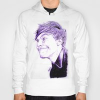 louis tomlinson Hoodies featuring Louis Tomlinson by Drawpassionn