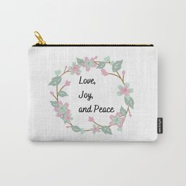 Love, Joy and Peace Carry-All Pouch