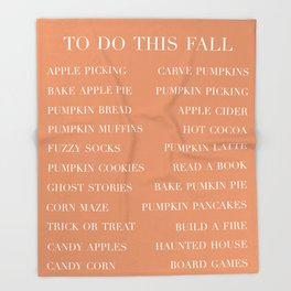 to do this fall list Throw Blanket