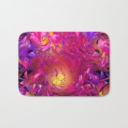 PEONY IN JUNE ABSTRACT Bath Mat