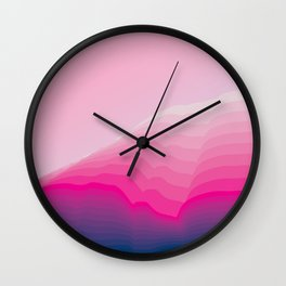iso mountain slope Wall Clock