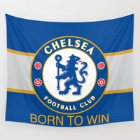 chelsea Wall Tapestries featuring Chelsea by DeBUM