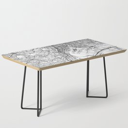 Tokyo White Map Coffee Table