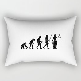 Lady Justice Evolution Lawyer Judge Law Rectangular Pillow