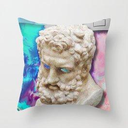 Vaporwave Socrates Aesthetics Throw Pillow