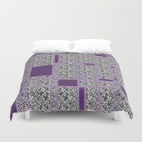 plaid Duvet Covers featuring Plaid-ish by Whimsy Notions Designs