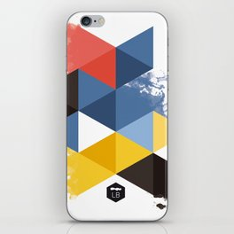 colored triangles - 2 iPhone Skin