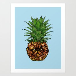 Pineapple Persian Cat Art Print