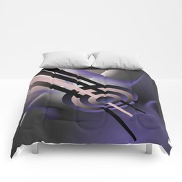 Abstract composition with shapes and colors 042 Comforters