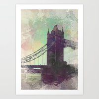 bridge Art Prints featuring Bridge by Nechifor Ionut