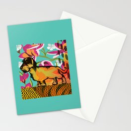 Dachshund  pop art Stationery Cards