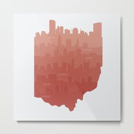 Ohio Skylines Metal Print