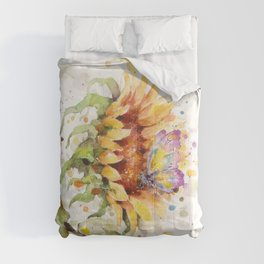 Hand In Hand (Butterfly & Sunflower) Comforters