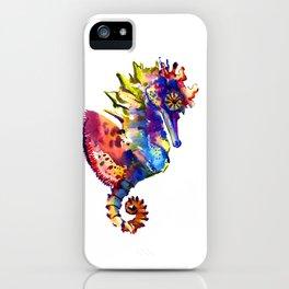 Rainbow Seahorse, seahorse art design iPhone Case