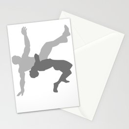 Wrestler Gift Wrestling Who Love Wrestling, Pro Wrestling Tees- Black Stationery Cards