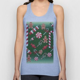 Christmas Candy Cheer Unisex Tank Top
