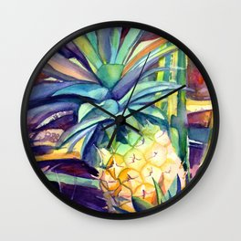 Kauai Pineapple 4 Wall Clock