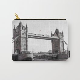 London Bridge Black & White Carry-All Pouch