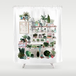 Plant Room Shower Curtain