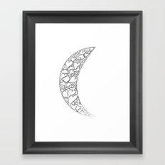 A Moon full of hearts Framed Art Print