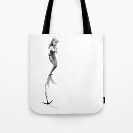 Anchored Mermaid  Tote Bag
