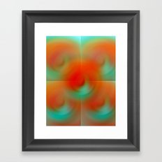 carrot and eggplant Framed Art Print