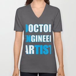 Dentist Doctor ENgineer arTIST Dental Fun Unisex V-Neck
