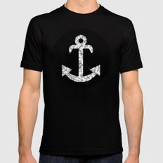 Marble Anchor in Black Black MEDIUM Mens Fitted Tee