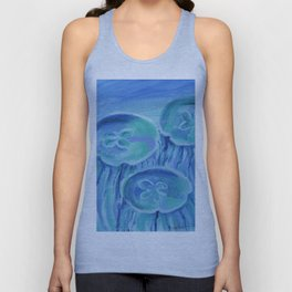 Striated Jelly Moons Unisex Tank Top