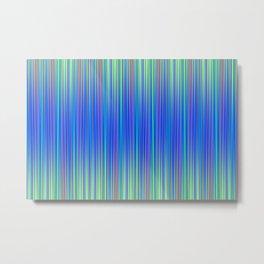 Lines 177 in Blue Metal Print