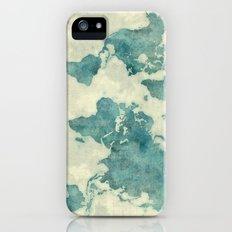 World Map Blue Vintage iPhone (5, 5s) Slim Case