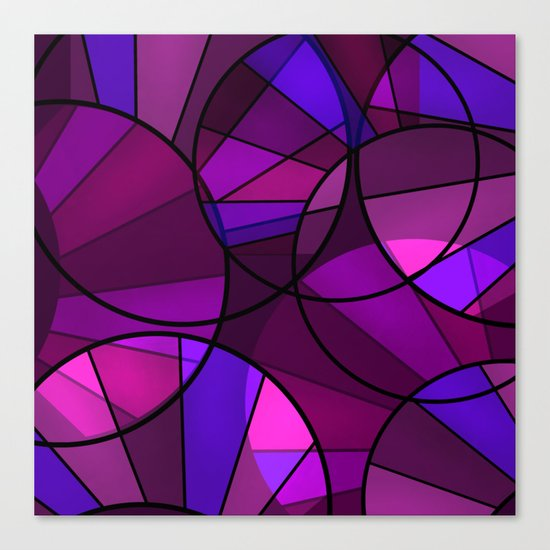 Colorful purple and blue pattern . Canvas Print